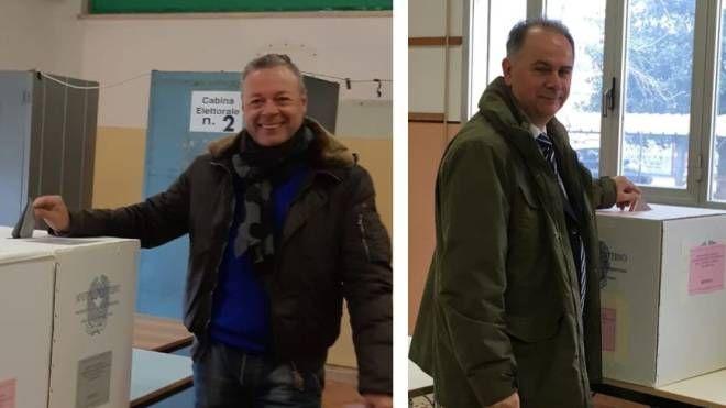 Da sinistra Diego Viviani, sindaco di Goro e Gianni Michele Padovani, sindaco di Mesola