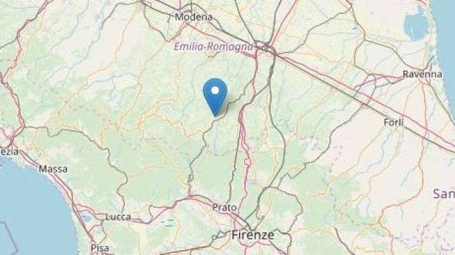 L'epicentro del sisma a 5 km da Castel D'Aiano (Bologna)
