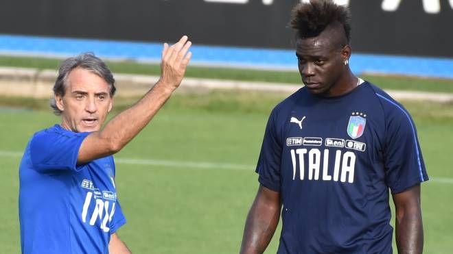 Mancini e Balotelli (Newpress)