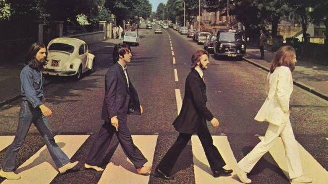 La celebre copertina della band di Liverpool