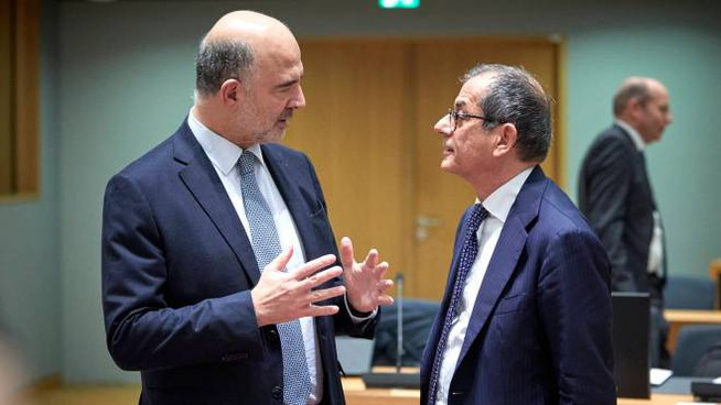 Moscovici e Tria (ImagoE)