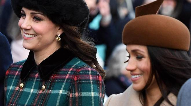 Kate Middleton e Meghan Markle (Ansa)