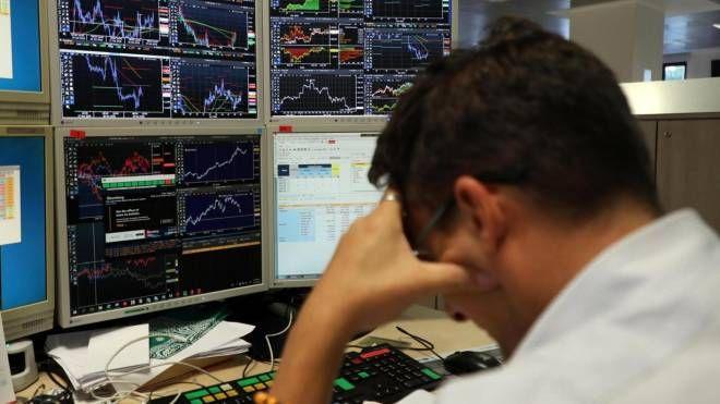 Un operatore di Borsa