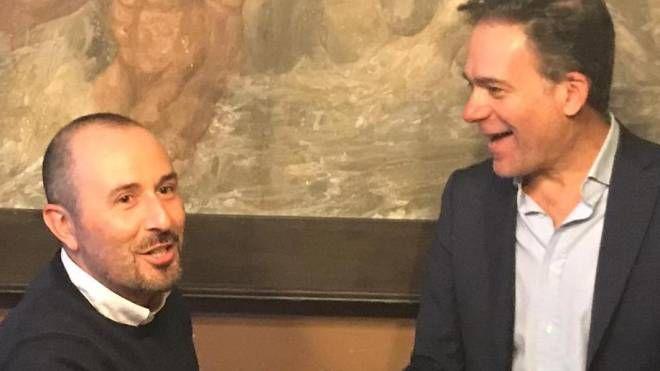 L'incontro in Comune fra Danti e il sindaco Conti