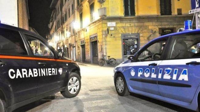 Polizia e carabinieri in azione per indentificare i ladri