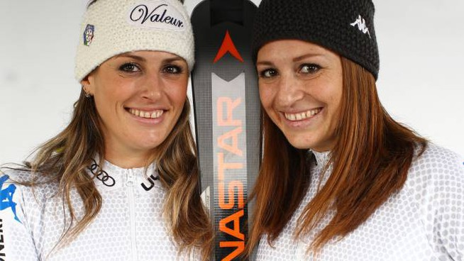 Le sorelle Nadia ed Elena Fanchini