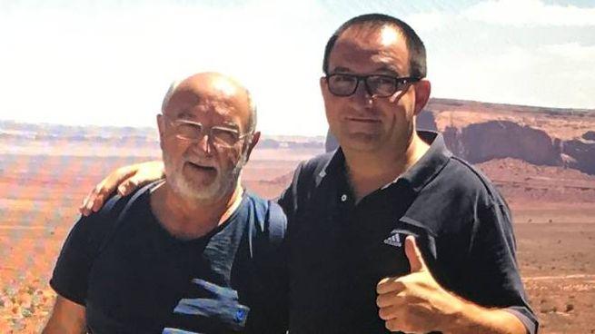 Francesco Masetti con il padre Antonino