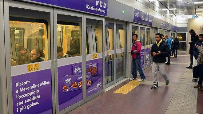 La linea lilla della metropolitana