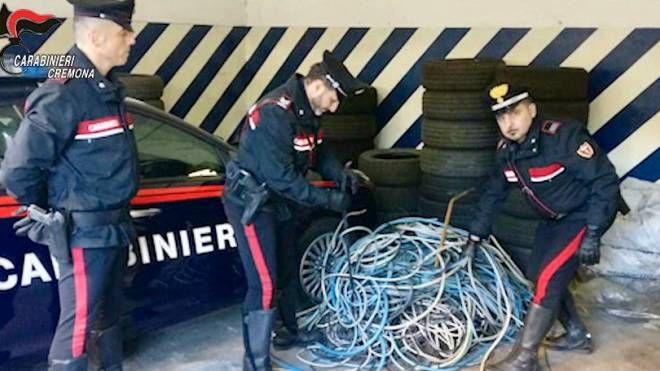 Parte delle refurtiva recuperata dai carabinieri