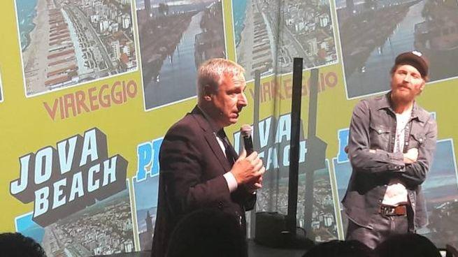 Jovanotti, qui con Giorgio Del Ghingaro, presenta il tour 2019