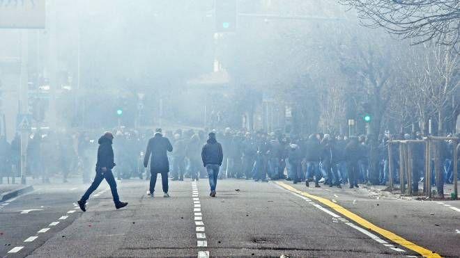 Gli scontri dopo Como-Varese