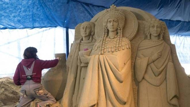 Presepe di sabbia di Marina di Ravenna