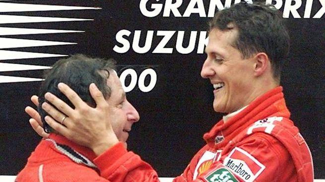 Michael Schumacher e Jean Todt (Ansa)