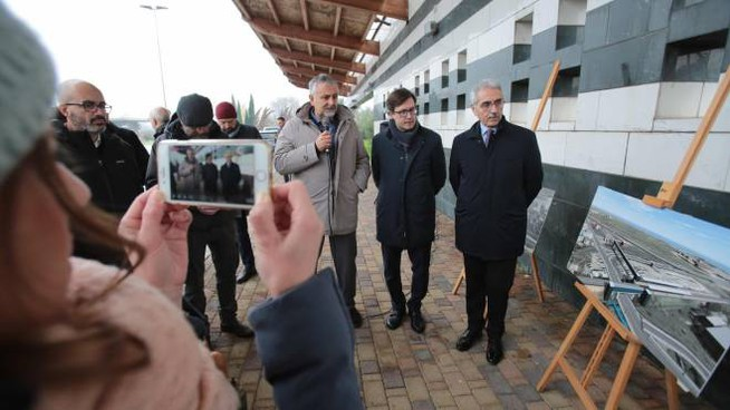 La visita al cantiere della nuova stazione ferroviaria (New Press Photo)