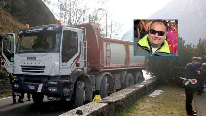 Incidente mortale a Campodolcino, nel riquadro la vittima  Stefano Scaramella