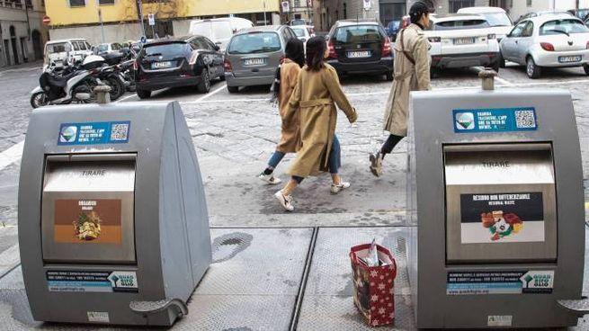 I cassonetti interrati operativi da diverso tempo nel centro di Firenze