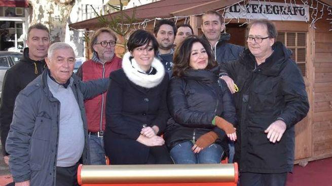 Inaugurato il Villaggio di Natale in piazza Venti (foto Novi)