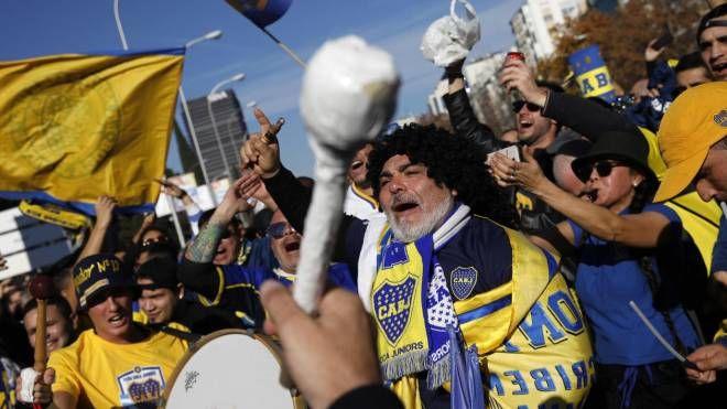 Copa Libertadores, i tifosi del Boca Juniors (foto Ansa)
