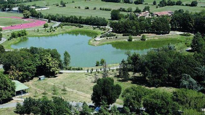 Una visione dall'alto del parco Forlanini