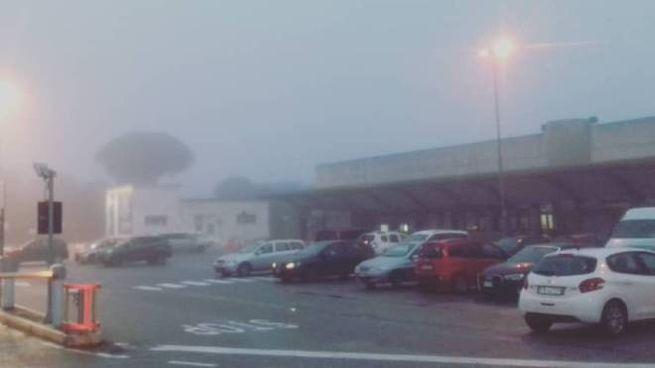 La nebbia a Peretola (foto di un lettore)