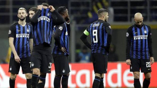Inter fuori dalla Champions (foto Ansa)