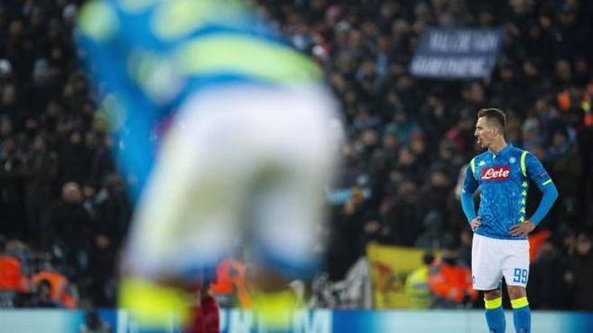 Napoli ko con il Liverpool: addio Champions (Ansa)