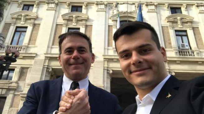 Michele Conti e Edoardo Ziello (foto Dire)