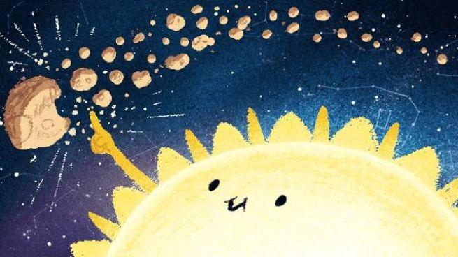 Sciame meteorico delle Geminidi, il doodle di Google