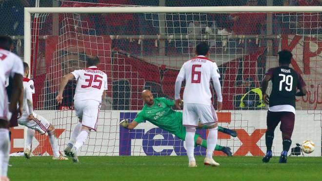 Olympiacos-Milan, il gol del 3-1 (LaPresse)