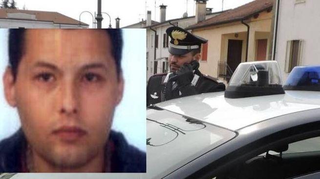 Nel riquadro Denis Sbravati, 35 anni, da poco residente  nella cittadina di Castelmassa