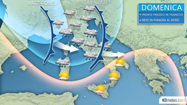 d6e5b4b9f6 Previsioni meteo weekend, neve al Nord Italia.