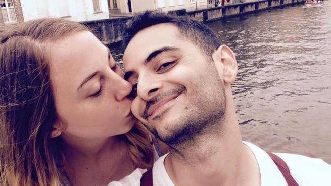 Antonio Megalizzi con la fidanzata (Ansa)