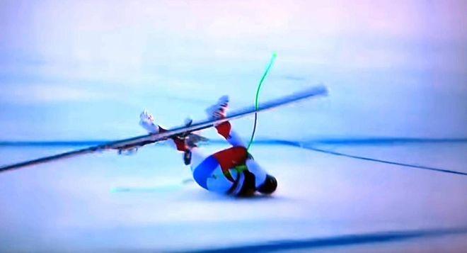 Marc Gisin, la fotosequenza della caduta durante la discesa libera