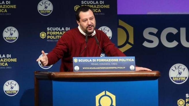 Matteo Salvini alla scuola di formazione politica della Lega
