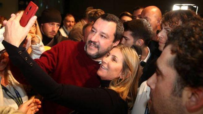 Salvini al alla Scuola Politica della Lega (LaPresse)
