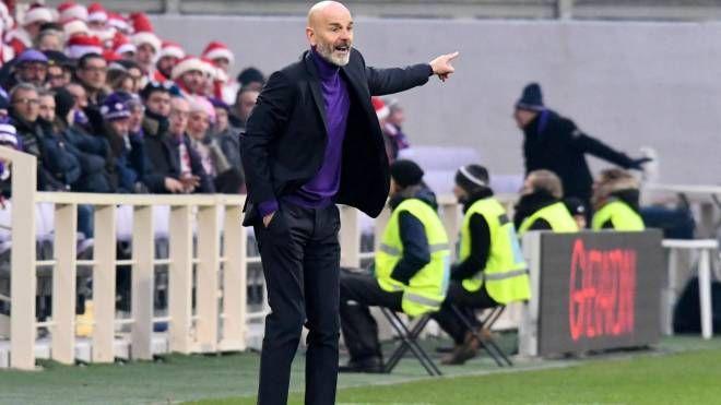 L'allenatore viola Stefano Pioli durante Fiorentina-Empoli