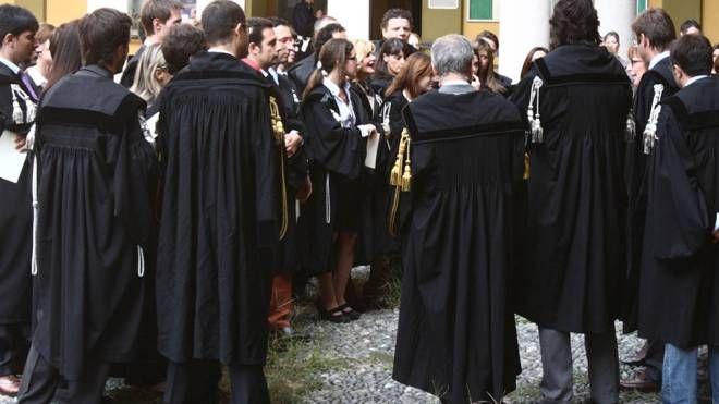 TOGHE Gli avvocati penalisti manifestano contro la riforma  del ministro della Giustizia Alfonso Bonafede (Rossi)