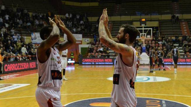 La vittoria dell'Unieuro contro Udine (foto Frasca)