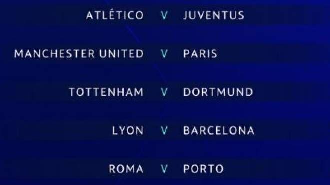 più nuovo di vendita caldo prezzo favorevole sfoglia le ultime collezioni Sorteggi Champions, Atletico-Juve e Roma-Porto. Europa ...