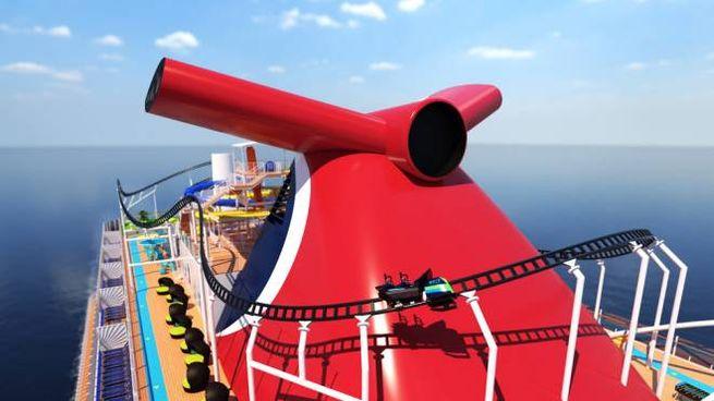 Le montagne russe della nave Mardi Gras - Foto: PRNewsfoto/Carnival Cruise Line