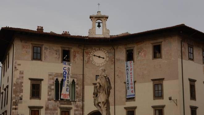 Protesta  alla Scuola Normale di Pisa