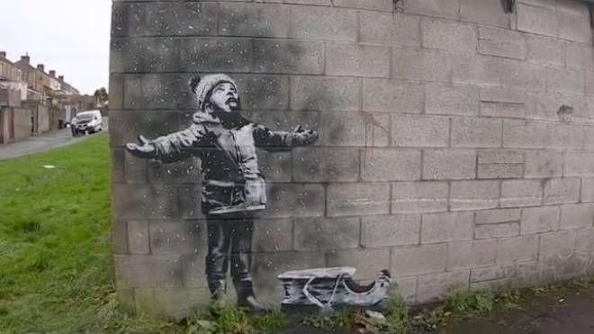 La nuova opera di Banksy