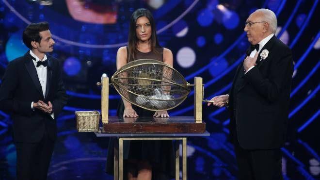 Rovazzi e Baudo annunciano i nomi dei big in gara al Festival di Sanremo (LaPresse)
