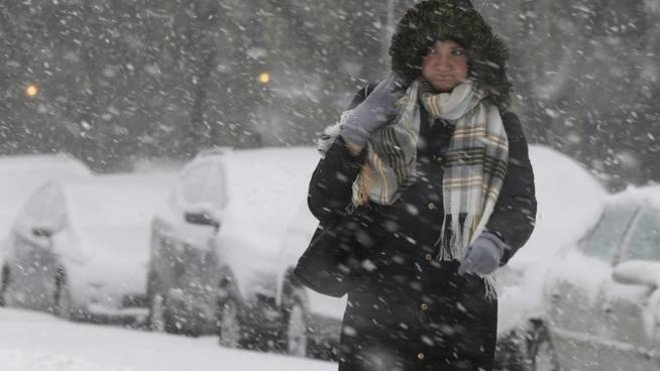 Tempesta di neve (Ansa)