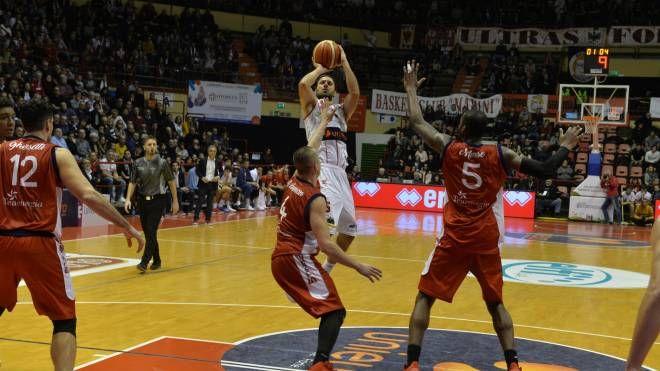 Forlì batte Mantova all'overtime (Foto Frasca)