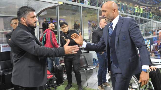 Gennaro Gattuso e Luciano Spalletti