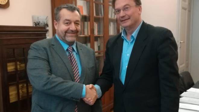 Il neo direttore sanitario Andrea Neri e il direttore generale Andrea Rossi