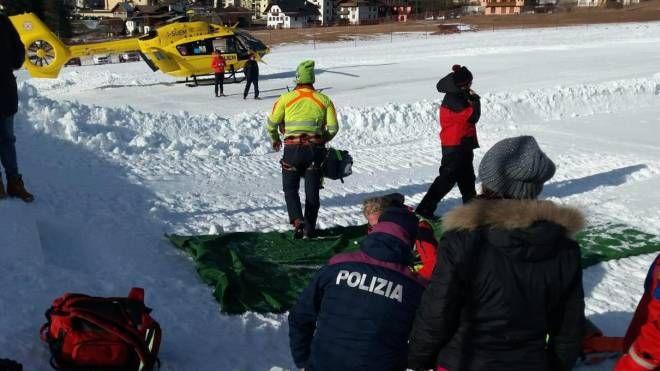 Incidente sugli sci a Sappada, Udine (Ansa)
