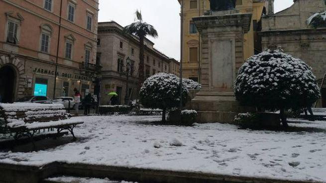 Piazza Roma imbiancata