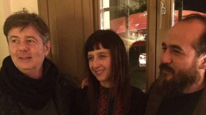Dario Giovannini e la moglie Roberta Magnani di Aidoru con l'imprenditore Giorgio Tosi di Camac (a sinistra)